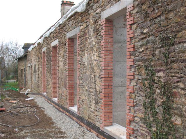 Encadrement briques