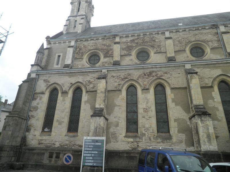 La chapelle avant travaux - façade Nord